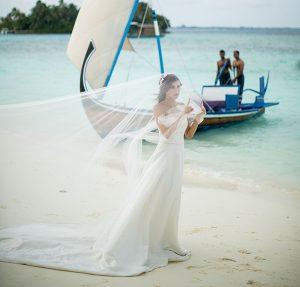 Bride on Beach Wedding